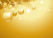 Fond de Noël d'or Photographie stock libre de droits