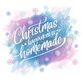 Fond de Noël d'aquarelle illustration libre de droits