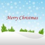 Fond de Noël d'hiver Photo stock