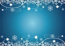 Fond de Noël/d'an neuf (bleu) Photo stock
