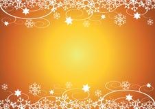 Fond de Noël/d'an neuf (d'or) Images libres de droits