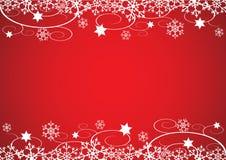 Fond de Noël/d'an neuf (rouge) Images stock