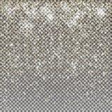 Fond de Noël de chimères de scintillement de neige d'or de vecteur pétillement Photographie stock libre de droits