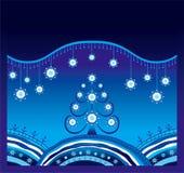 Fond de Noël de l'hiver Images libres de droits