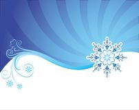 Fond de Noël de l'hiver Images stock