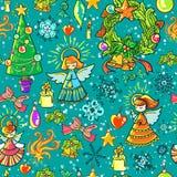Fond de Noël de l'hiver Photo libre de droits