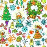 Fond de Noël de l'hiver Photographie stock