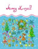 Fond de Noël de l'hiver Photos libres de droits