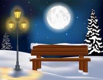 Fond de Noël de paysage de forêt d'hiver Photos stock