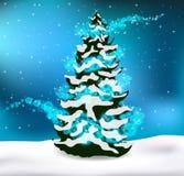 Fond de Noël de paysage de forêt d'hiver Photo stock
