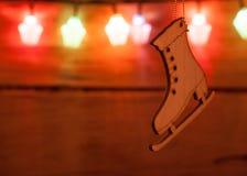 Fond de Noël de photo avec des lumières de couleur Images stock
