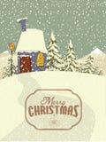 Fond de Noël de vecteur Images libres de droits