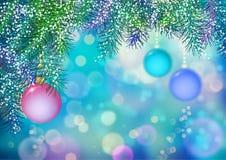 Fond de Noël de vecteur illustration stock