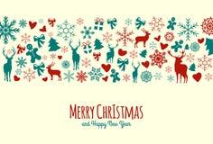 Fond de Noël de vintage Images libres de droits