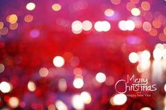 Fond de Noël, doux abstraits et tache floue Photographie stock
