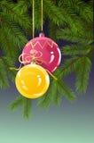 Fond de Noël et d'an neuf Photographie stock