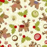 Fond de Noël et d'an neuf avec des deers illustration stock