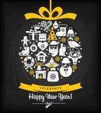Fond de Noël et de nouvelle année Images stock