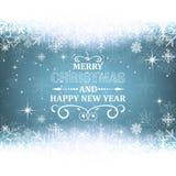 Fond de Noël et de nouvelle année avec le thème de neige illustration libre de droits