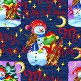 Fond de Noël et de nouvelle année pour des cartes de voeux, affiches, invitations illustration de vecteur