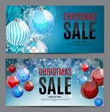 Fond de Noël et de vente de nouvelle année, calibre de bon de remise illustration libre de droits