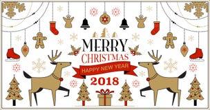 Fond de Noël, illustration de vecteur Photos stock