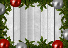 Fond de Noël - le sapin s'embranche avec des boules de Noël Image stock
