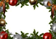 Fond de Noël - le sapin s'embranche avec des boules de Noël Images libres de droits