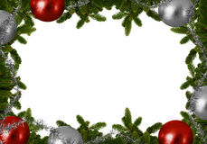 Fond de Noël - le sapin s'embranche avec des boules de Noël Photo stock