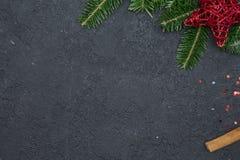 Fond de Noël noir ou de nouvelle année Photo libre de droits