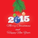 Fond de Noël ornements et texte de salutation Images libres de droits
