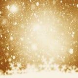 Fond de Noël Scintillement d'or d'abrégé sur vacances Defocused Image libre de droits