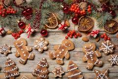 Fond de Noël sur en bois Photographie stock libre de droits