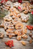Fond de Noël sur en bois Photos libres de droits