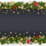 Fond de Noël de vecteur avec des étoiles et des cadeaux illustration libre de droits
