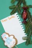 Fond de Noël vert d'un-couleur ou de nouvelle année avec la conception minimalistic Photographie stock