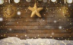 Fond de Noël, vieux fond en bois Photographie stock libre de droits