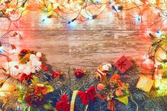Fond 2018 de Noël de vintage Photos libres de droits
