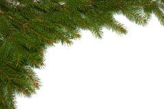 Fond de Noël Vue supérieure avec l'espace de copie arbre de sapin avec le cône d'isolement sur le fond blanc Photographie stock