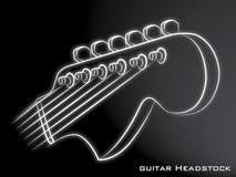 Fond de noir de poupée de guitare Images libres de droits
