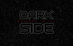Fond de noir de l'espace d'abrégé sur côté en noir - lettres rougeoyantes sur s illustration stock