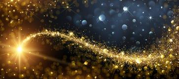 Fond de Noël avec l'étoile d'or Image stock