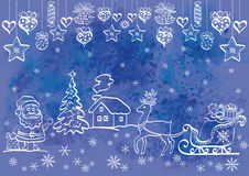 Fond de Noël de vacances Images libres de droits