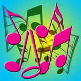 Fond de notes musicales illustration stock