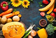 Fond de nourriture d'automne photographie stock libre de droits