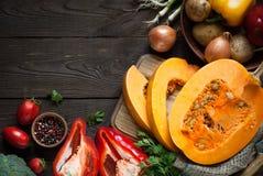 Fond de nourriture d'automne photos libres de droits