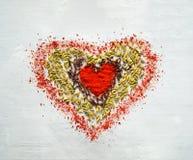 Fond de nourriture des épices sous forme de coeur photos libres de droits