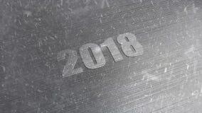 Fond 2018 de nouvelle année banque de vidéos