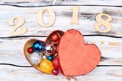 Fond 2018 de nouvelle année Image libre de droits
