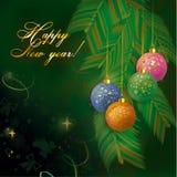 Fond de nouvelle année Photographie stock